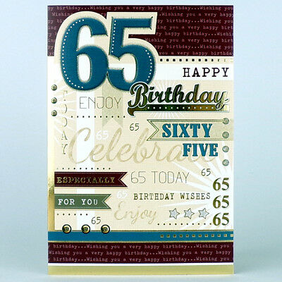 65th BIRTHDAY CARD Happy Birthday LOVELY GREETING Card