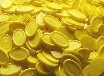 Tokens Deposit Coins Beverage Oval - Color: Yellow Quantities Selectable