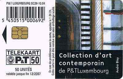 TELEFONKARTE::P&T LUXEMBOURG  COLLECTION d´art contemporain A.BLEY  SC 29 VOLL
