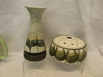 Jersey Pottery Bud Vase and Posy Bowl