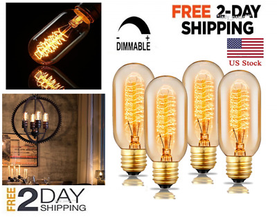 Vintage Antique Retro Old Filament style industrial Edison light Bulbs 4 set