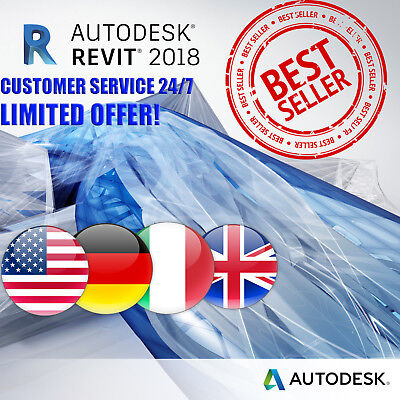 AutoDesk | Revit 2018 | 3 Years | Win/Mac | Multilanguage | FAST DELIVERY |