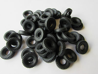 48 New Dinky 20Mm Black Block Tread Replacement Tyres-Special Offer C