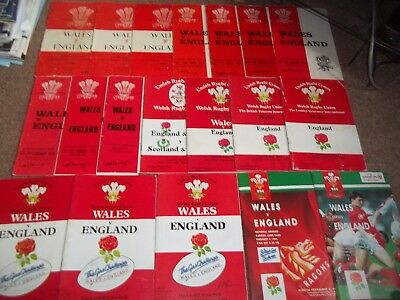 Wales V England Rugby Union Programme Collection Cardiff Arms Park 1961-1995 19