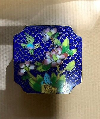 Antique Chinese Cloisonne and Enamel Opium / Snuff Box