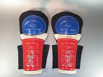 """Vintage Cooper Weeks CH33 Hockey Shin Pads Knee CH Canadien 14"""" tall Youth Kids"""