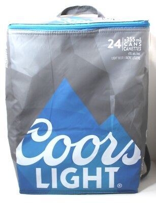 2015 Coors Light Beer 24-Can Collapsible Soft-Sided Cooler Bag Molson Backpak