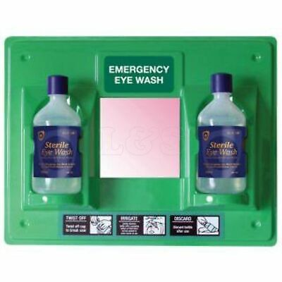 Eye Wash Station - Supplied with 2 x 500ml Bottles