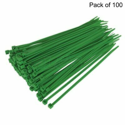 High Quality Cable Ties, Green, 4.8x200mm, Pack of 100