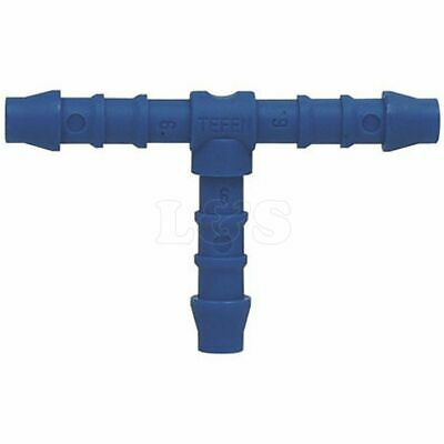 12mm Blue Plastic Equal Tee Piece Hose/Pipe Connector