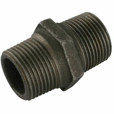 """Malleable Equal Hex Nipple 3"""" x 3"""" M/M BSP"""