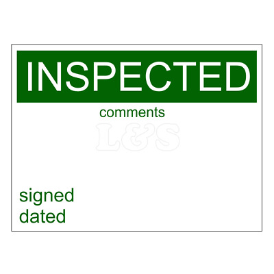 Self Adhesive Label - INSPECTED (Pack of 50)