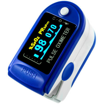 FDA Pulse Oximeter Fingertip DP150 Blood Oxygen SpO2 Monitor - BLUE SAPPHIRE