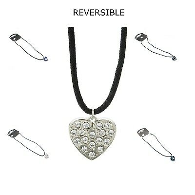 AMINCO NFL Reversible Heart Charm Necklace PICK YOUR TEAM