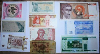 World Banknotes, 10 all different.  *World10.1. 1-3*
