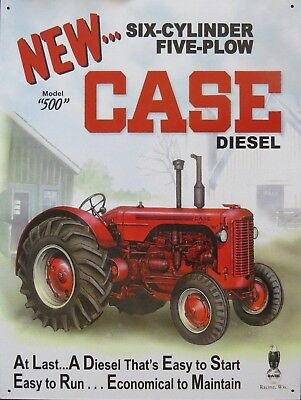 "Case Diesel Tractor Model 500 Retro Vintage Nostalgic Metal Tin Sign 9""x12"""