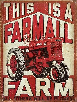 "This Is A Farmall Farm Tractor Retro Vintage Nostalgic Metal Tin Sign 9""x12"""