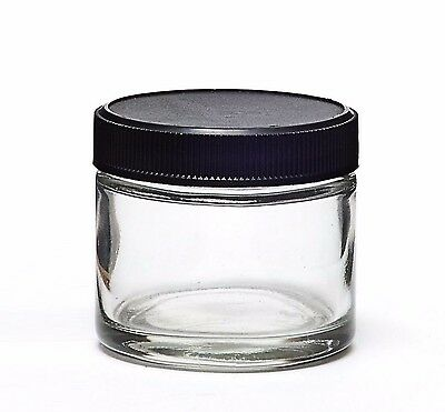 20 ct 2oz Glass Jars Screw Containers 12 + 8 free shipping pp plastic lids vials