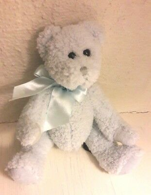Vintage Bearington Collection Soft Blue Jointed Teddy Bear Toy Collectable