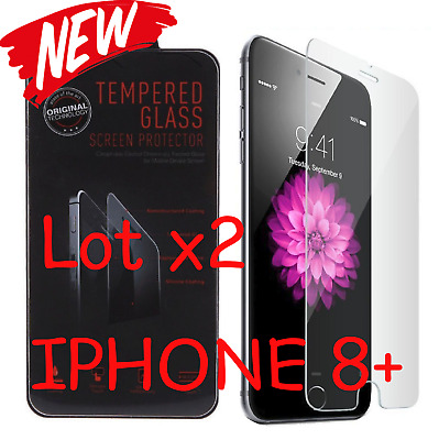 """Lot x2 Premium Real Tempered Glass Screen Protector for Apple 5.5"""" iPhone 8 Plus"""