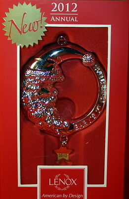 Lenox Ornament 2012 Baby's First Christmas Baby Rattle