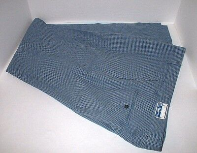 Vintage Men's Pants Polyester Houndstooth 35x34 NEW OLD STOCK Disco Hipster Nerd