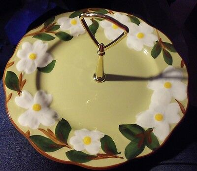 STANGL White Dogwood Handled Tidbit Plate