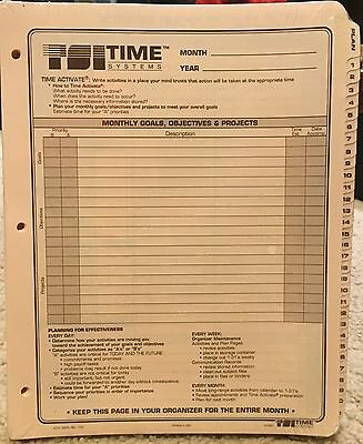 TSI Time Systems Inc, 6 Months worth of Daily Planner Refill Pages, 3 Holes, New