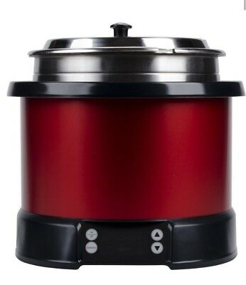 Vollrath 74110140 11 Quart Mirage Induction Soup Rethermalizer (Red)