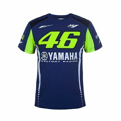 2017 OFFICIAL Moto GP VR46 Valentino Rossi Yamaha 46 MENS Team T-Shirt – NEW