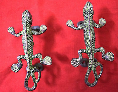 Antique Style Pair Of Brass Lizard Shape door Handle Brass Door Pull Decor BM431