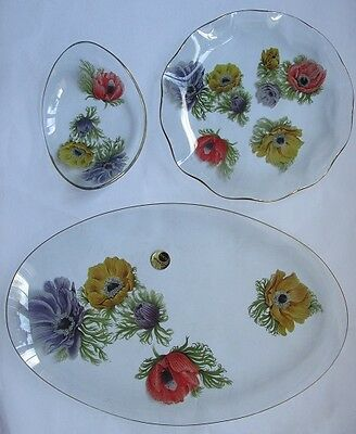 3 Chance Glass Dishes (1950s/60s)