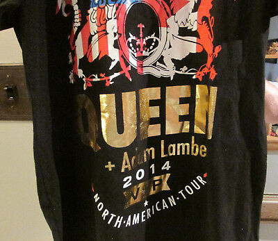 Queen Adam Lambert North American Tour Vip 2014 T-Shirt & Hand Bag