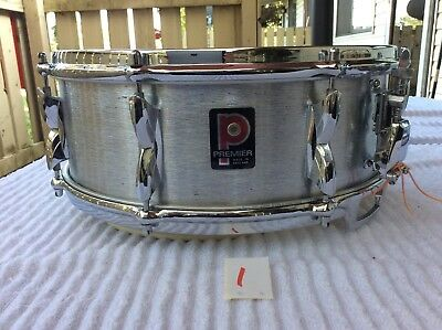 Premier Resonator Aluminum Snare Drum PD101 8 Lugs 5.5 By 14