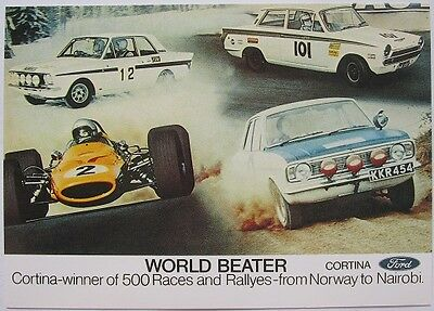 Pack of 15 New Vintage Ad Gallery Postcards: No 133 Lotus Cortina