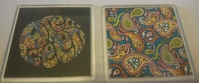 PRETTY GREEN COASTER x2  liam gallagher oasis t shirt Noel gift Paisley