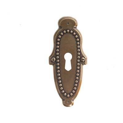 Classic Hardware Vintage Escutcheon Key Hole Cabinet Backplate 101795.07 Antique