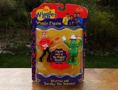 The WIGGLES 2 FIGURES Set - MURRAY & DOROTHY the Dinosaur Figure Set - NEW RARE