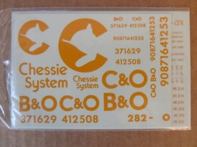 Walthers O Scale Decals -  Chessie System Modern Combination Freight #282030