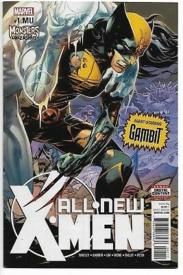 All New X Men # 1 Variant X 23 Monsters Unleashed # 1.mu All New Wolverine Nyx