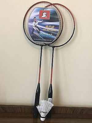 1 pair Brand new kids badminton rackets set  with plastic case