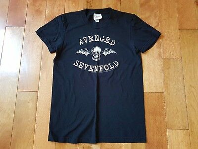 Avenged Sevenfold Black Skull Graphic Band By Philcos T-Shirt Womens Size Medium