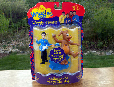 The WIGGLES 2 FIGURES Set - ANTHONY and WAGS The DOG Figure Set - NEW - RARE