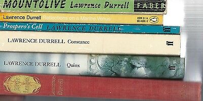 6 Lawrence Durrell books.  Job lot.  Collection
