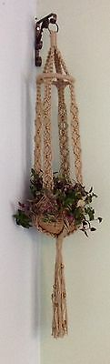 Beautiful handcrafted macrame plant/pot/basket hanger - UNUSUAL GIFT IDEA