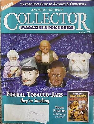 Antique Traders Collector  Magazine and Price Guide Figural Tabacco Jars 1996