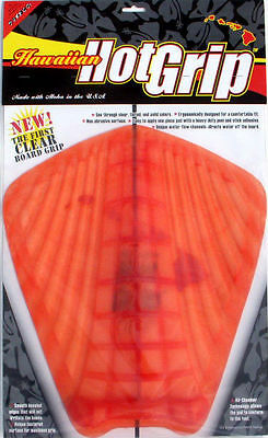 HOT GRIP TRACTION PAD, Surfboard Tail Grip, Deck Pad, See Through Design! *NEW*