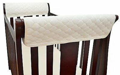 TL Care Organic Cotton Side Crib Rail Covers Twin Pack
