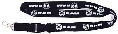 Dodge RAM Lanyard - Black - With detachable clasp + key ring. NEW!!!