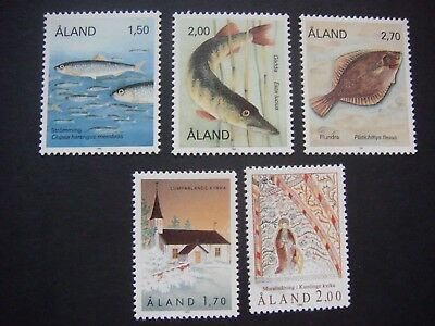 Aland 1990 year set of 5 stamps MNH